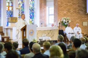 Fr Peter Hosking at the farewell Mass.