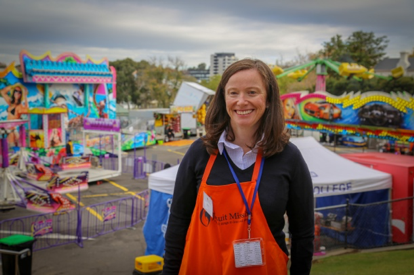 Helen Ford, CEO of Jesuit Mission, at the 2018 Maytime Fair