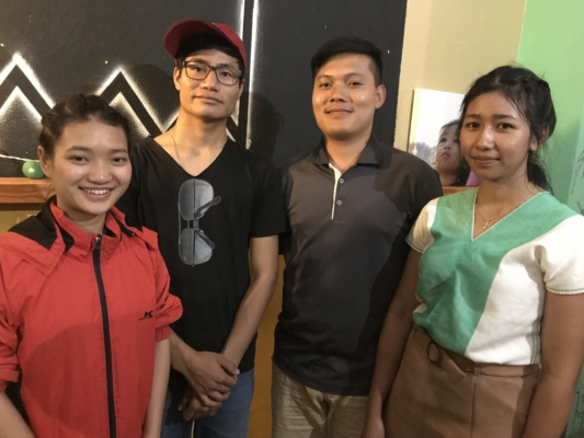 Four of the five students from XLC who are taking part in an immersion program in Australia.