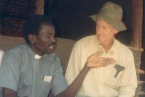 Tony Ruhan (right) in Sudan.
